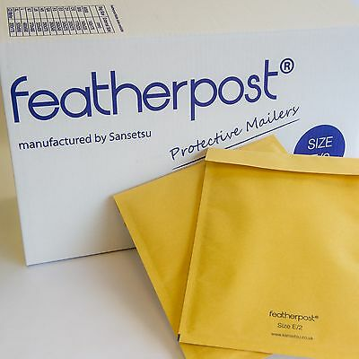 1, 5, 10 pack Bubble Mailer FEATHERPOST envelope padded bags sizes A/000 - K/7