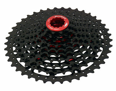 Sunrace Mx8 11 speed wide ratio MTB cassette 11-42T or 11-46T Black or Champagne