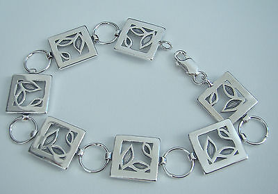 """Stylish, solid 925 Sterling Silver Chain Bracelet, 7,8"""" (20cm),10,6g (box incl.)"""