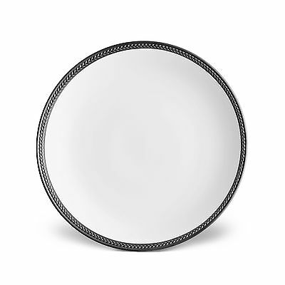 L'Objet Soie Tressee Dinner Plate, Black - Set of 4