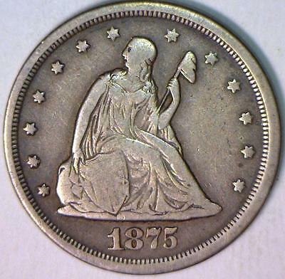 1875-S Twenty Cent; Nice Original; F-VF