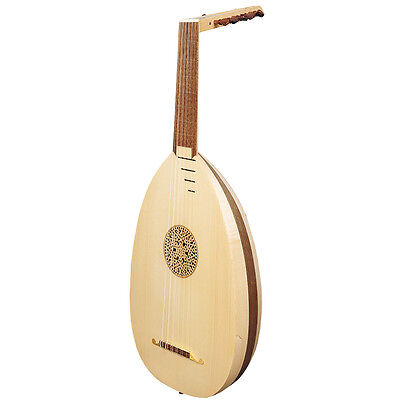 Heartland 6 Course Renaissance Lute, Right Handed Variegated Maple and Walnut