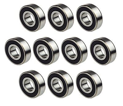 2 Pcs Premium Rubber Sealed Deep Groove Ball Bearing 17x40x12mm 6203 2RS ABEC3