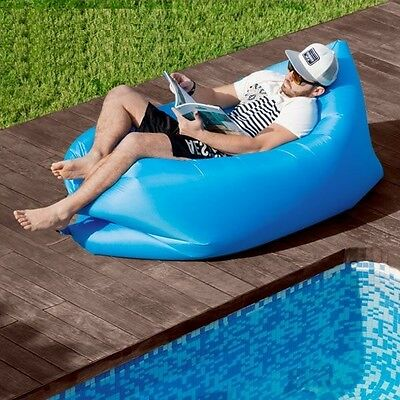 Air Couch Inflatable Seat Sofa Chair Self-Inflatable Outdoor Garden Poolside NEW