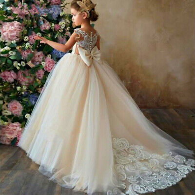 Flower Girl Pageant Dress Kids Formal Ball Gown Princess Party Prom Birthday
