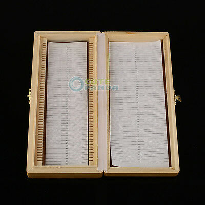 New Wooden Case Box Microscope Slides Cabinet Holder for 50pcs Storage Kit
