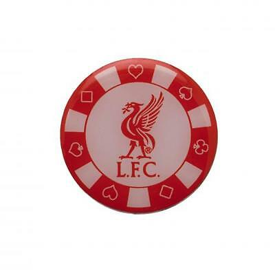 Liverpool FC Enamel Poker Chip Pin Badge Brand New