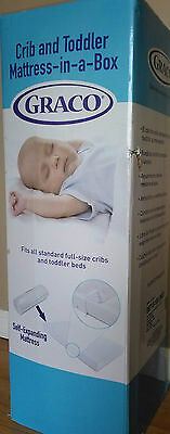 Graco Premium Foam Crib & Toddler Mattress-in-a-box w/ washable mattress cover