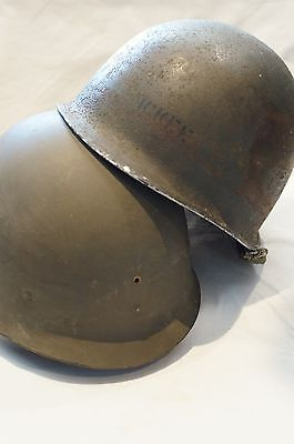 WW2 US Army M1 Schlueter Helmet Shell & Westinghouse Liner Named McKee