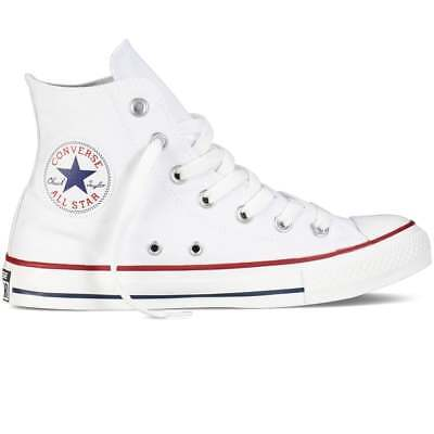 Originali  Converse All Star Chuck Taylor Alte Bianche Optical White  Uomo Donna