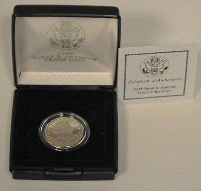 1999-P SBA$1 (Proof) Susan B. Anthony Dollar with Mint Box and COA