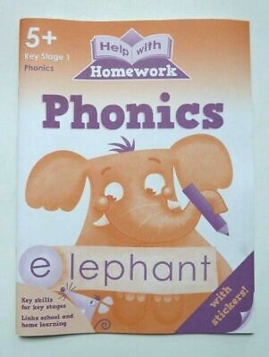 New HWH Phonics Literacy Workbook Children Age 5-6 Year 1 Primary School KS1