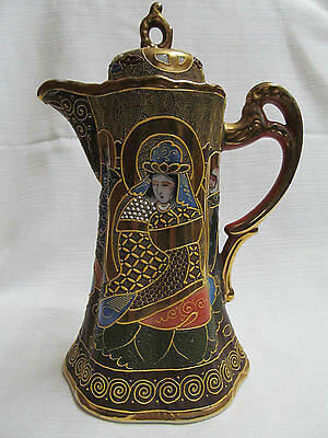 !BEAUTIFUL!  JAPANESE KUTANI GEISHA CHOCOLATE/ COFFEE POT with lid