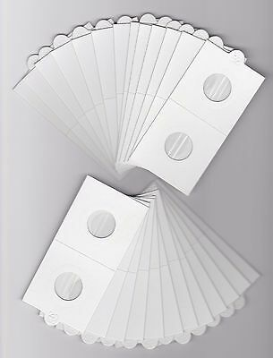"""LIGHTHOUSE 20mm SELF ADHESIVE 2""""x 2"""" COIN HOLDERS x 25 - SUIT SIXPENCE or 5 CENT"""