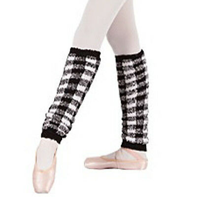 Womens Eurotard 18'' Black & White Leg Warmers