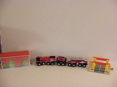 Coca Cola Collectible Christmas Wooden Train Set in Collector's Tin