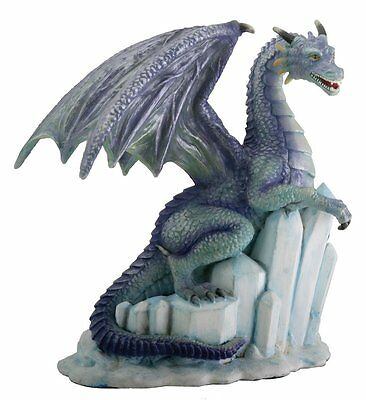 Winter Dragon on Ice Fantasy Figurine Decoration Decor Collectible
