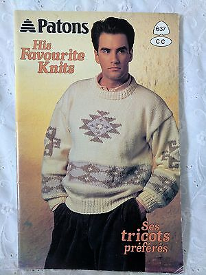 Knitting Booklet - His Favourite Knits - Sweaters for Men   KS#8