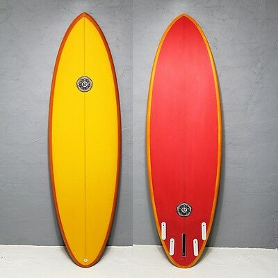 Element Surf Wildcat 6'4 Single Fin Yellow/red