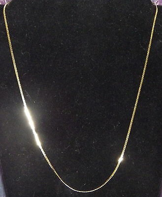 New 18K Yellow Gold Filled 1.8mm Flat Curb Link Chain Necklace Lobster Clasp