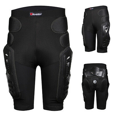 Unisex Motorcycle Motocross Racing Ski Armor Pads Hips Legs Protection Shorts
