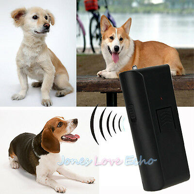 Anti-Bark Deterrent Train Ultrasonic Aggressive Dog Pet Repeller Barking Stopper