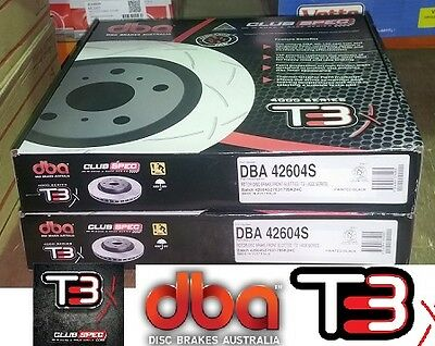 Dba T3 4000 Series Slotted Front Rotors  2010 Hsv Ve Redline Series With Brembo