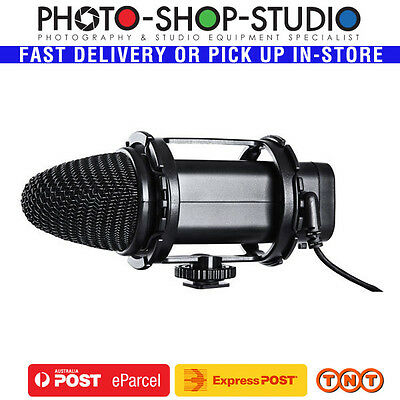 BOYA On-Camera Stereo X/Y Condenser Microphone BY-V02 DSLR Camcorder Video Audio