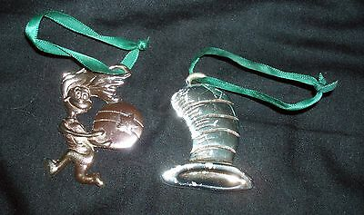 Two Christmas Tree Ornaments from Dr. Seuss' The Cat in the Hat