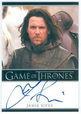 "Jamie Sives ""jory Cassel Autograph"" Game Of Thrones Season 1"