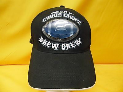 Coors Light Brew Crew Embroidered Cap Advertising Beer Brand Adjustable Hat