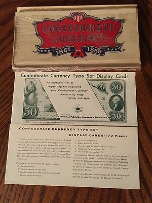 Confederate Currency Type Set Display Cards