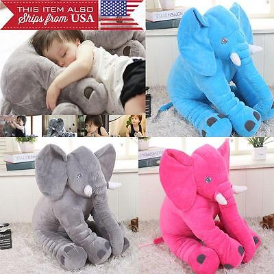 Large Elephant Pillow Soft Cushion Stuffed Baby Kids Plush Doll Big Toy from USA