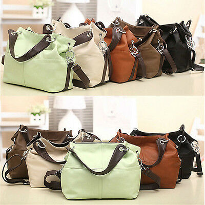 Women Ladies Leather Satchel Handbag Shoulder Messenger Crossbody Bag Tote Purse