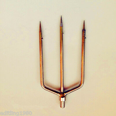 3 Prong Harpoon Fishing Frog Salmon Barbed Diving Spear Gun Gig 8 mm head