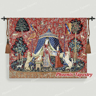 The Lady & Unicorn Medieval Fine Art Tapestry Wall Hanging - DESIRE (Small), UK