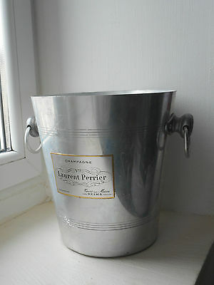 vintage French aluminium Laurent Perrier champagne ice bucket