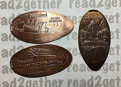 Disneyland Resort Pressed Penny Set Tomorrowland Attractions NEW