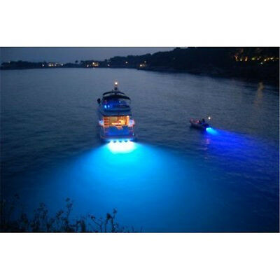 Underwater light Boat Marine Stainless Steel Light 6W BLUE Color, (Sets of 2)