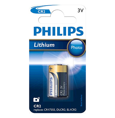 Philips Cr2 Lot De 5 Piles Au Lithium 3V
