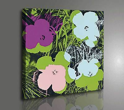 Andy Warhol Flowers Quadro Moderno Stampa su tela Canvas effetto Dipinto