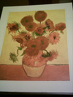 Vincent Van Gogh Vase Of 15 Sunflowers On Fine Canvas Offered For
