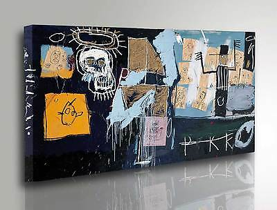 Quadro Basquiat Slave Auction Stampa su tela Canvas Vernice effetto Dipinto