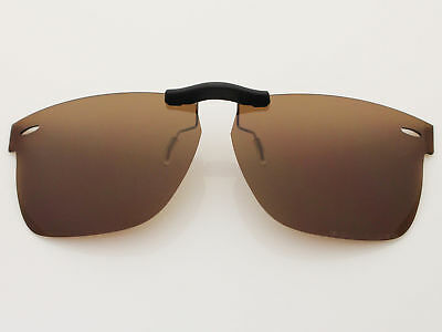 96a624705f433 Custom Fit Polarized CLIP-ON Sunglasses For Wayfarer RB5121 50X22 Brown