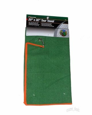 "20"" x 30"" MICROFIBER WORLD TOUR GOLF TOWEL WITH CLIP FOR BAG BLUE OR GREEN"