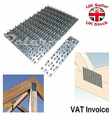 Galvanised Joining Splits Timber Mending Nail Spiked Punched Plates 3 Sizes