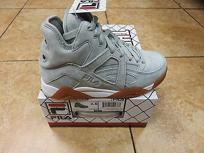 Fila Kid's Junior The Cage Grey/white/gum *new Releases* Sizes 3.5 To 7