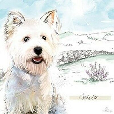 Westie Birthday Card Birthday Glitz West Highland White Terrier