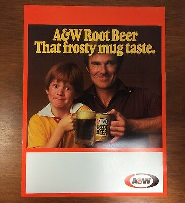 A&W Root Beer (NOS) 18'' x 24'' Poster, Vintage 1970s Advertisement, Soda Pop