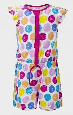 Girls Multicolour Spotty Polka Dot Cotton Shorts Playsuit Age 2 3 7 8 Years (A3)